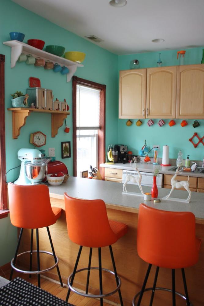 colorful tiny kitchen