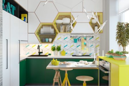 bold color ideas for small kitchens