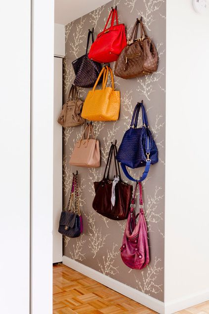 handbag display wall ideas for storing handbags