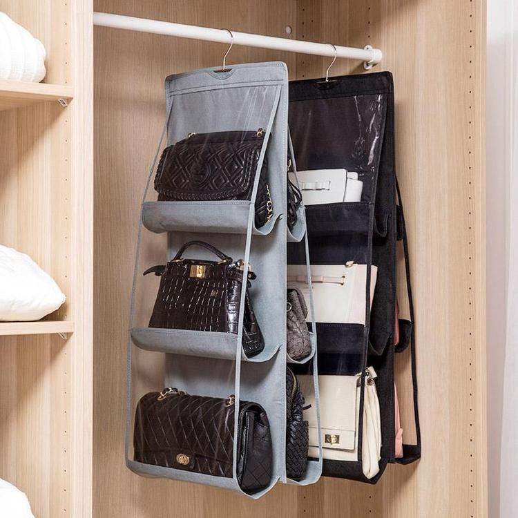 hanging pocket handbag storage ideas
