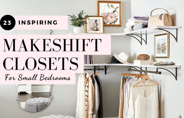 23 makeshift closet ideas for small bedrooms with no closet