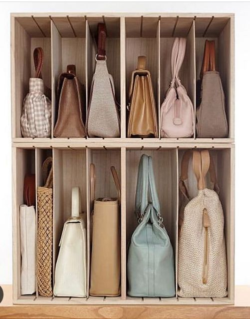 stackable purse storage