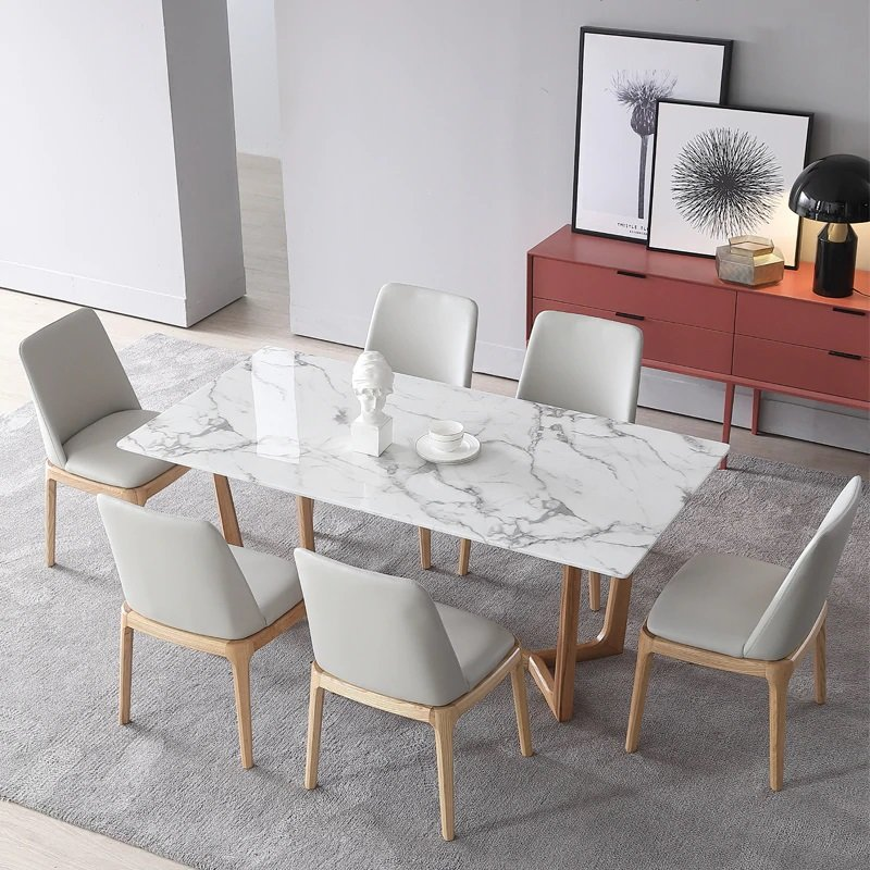 faux marble dining table set trend 2020