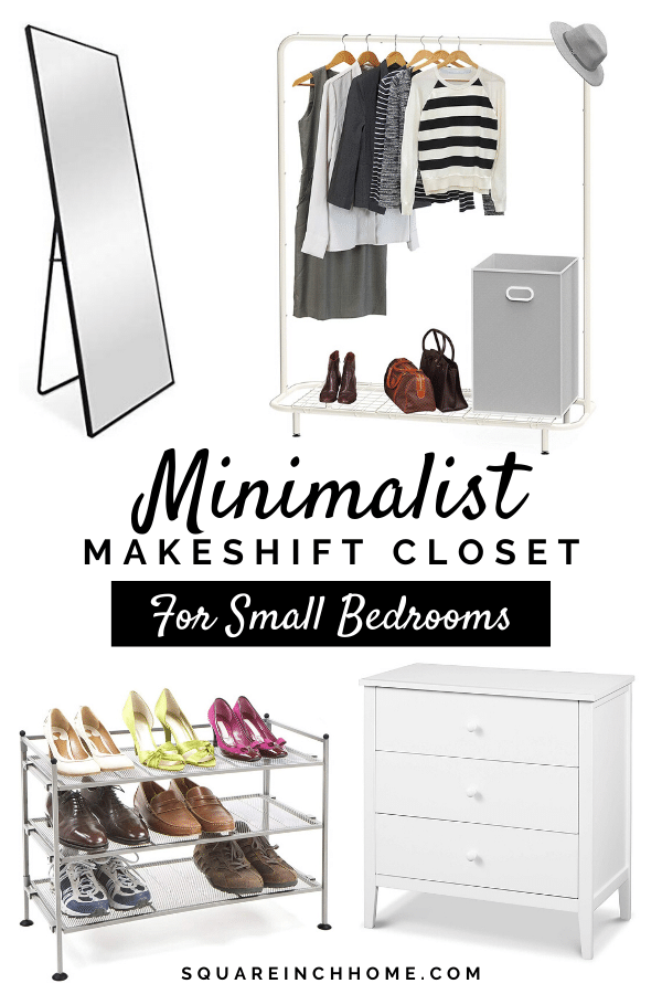 minimalist makeshift closet essentials for small bedrooms