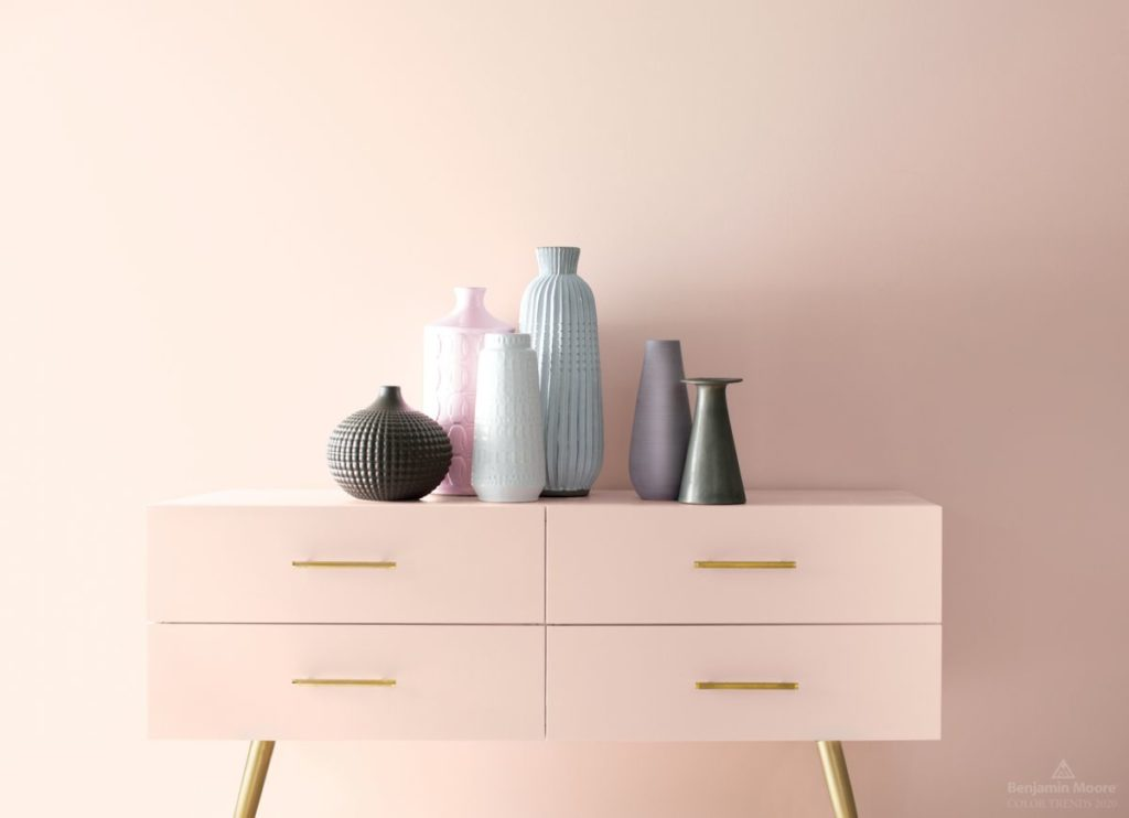 first light pink paint trend for 2020