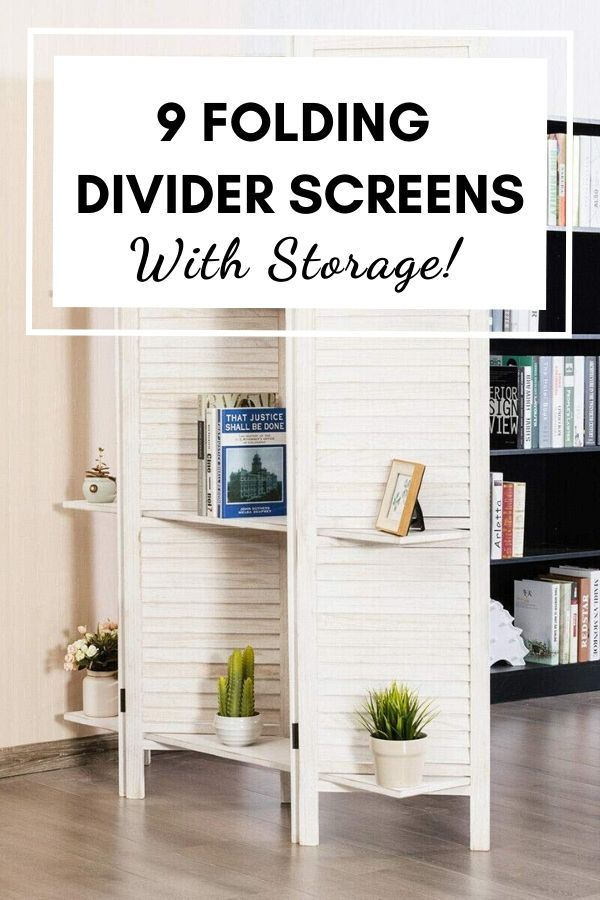folding room divider screens with storage