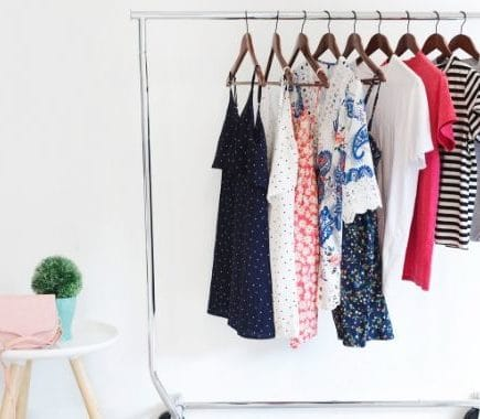 makeshift closet for small bedrooms with no closet