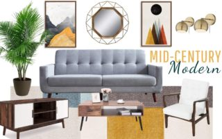 mid century modern living room decor