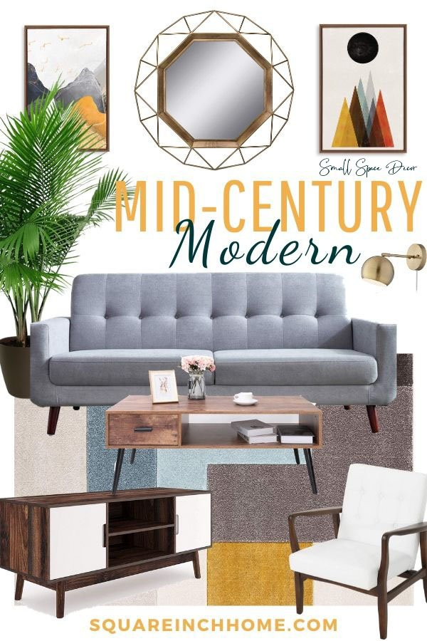 mid-century modern living room ideas for small living rooms pinterest