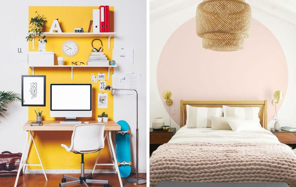 divide a studio apartment with color-zoning