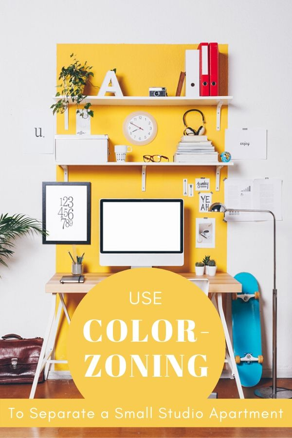 ideas for separating a small studio apartment pinterest