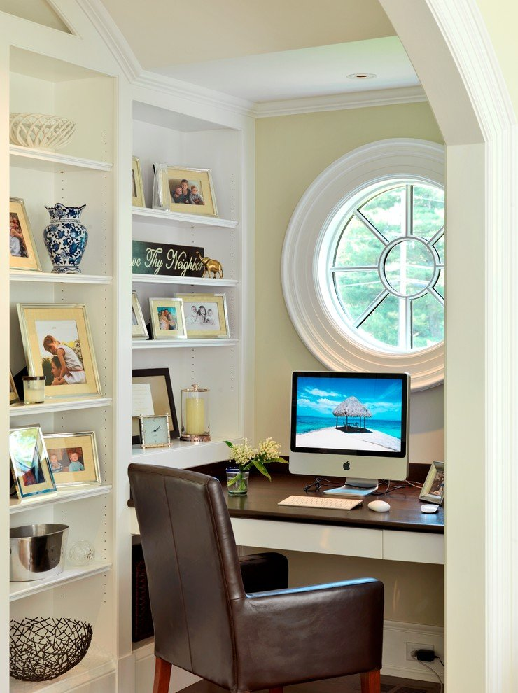 functional small corner office nook