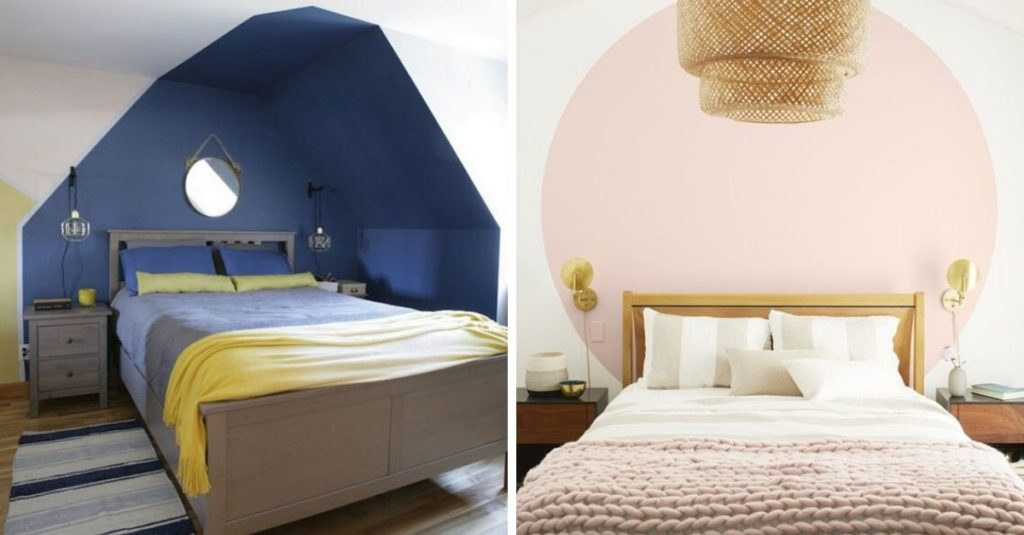 separate a bedroom in a studio apartment with paint