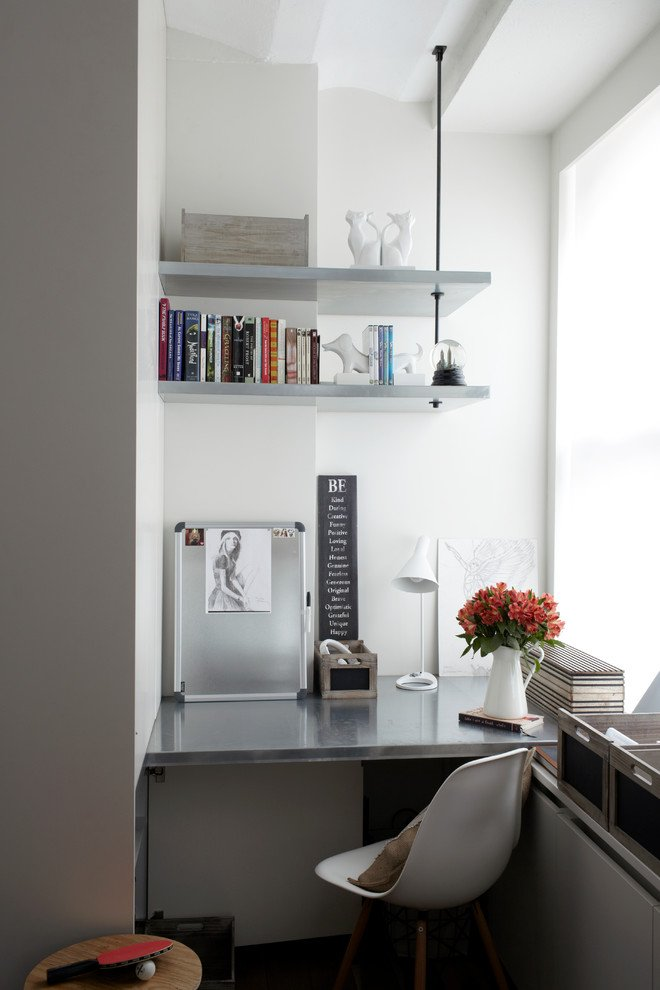 small office nook for awkward corners