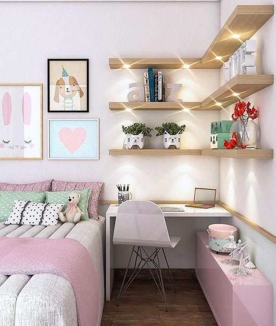 small study corner nook for teenage girl