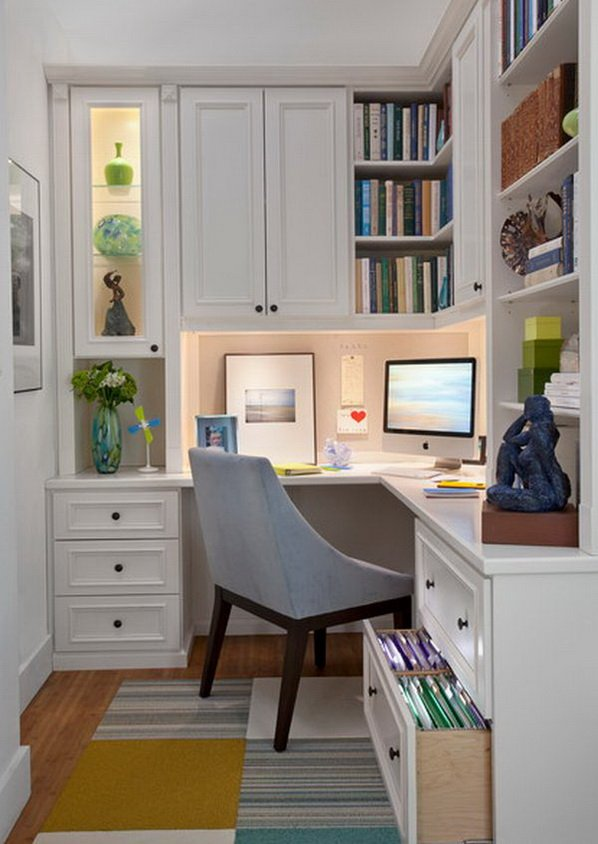 small corner office nook