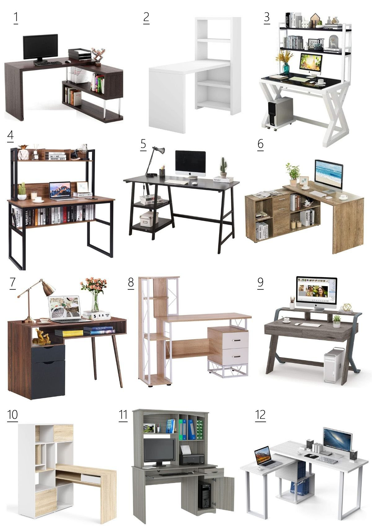 desks for small spaces with storage