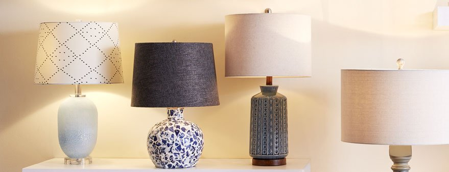 switch lamp shades for spring decor