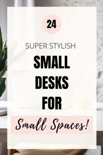 small modern desks for small spaces