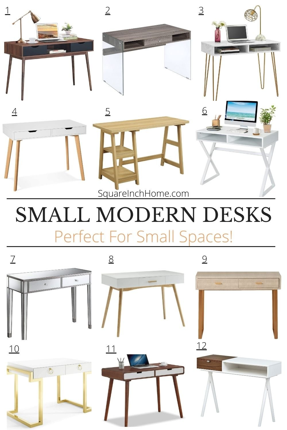 Work From Home 24 Modern Desks Perfect For Small Spaces