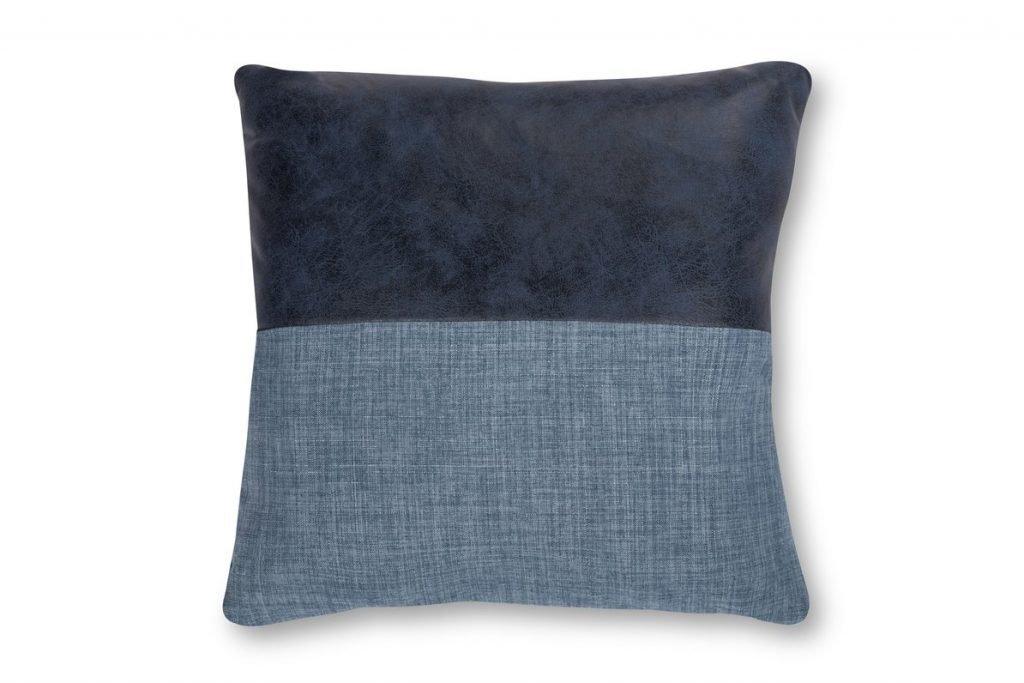 blue denim accent pillow