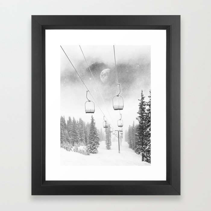 Ski Lift Moon Break wall art photograph