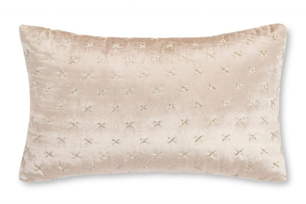 pink satic accent pillow