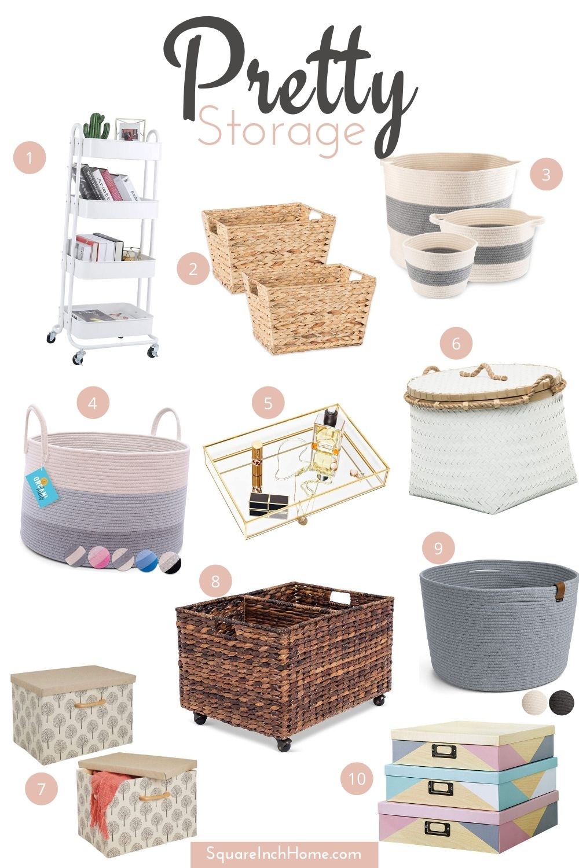 summer decor accents decorative summer storage