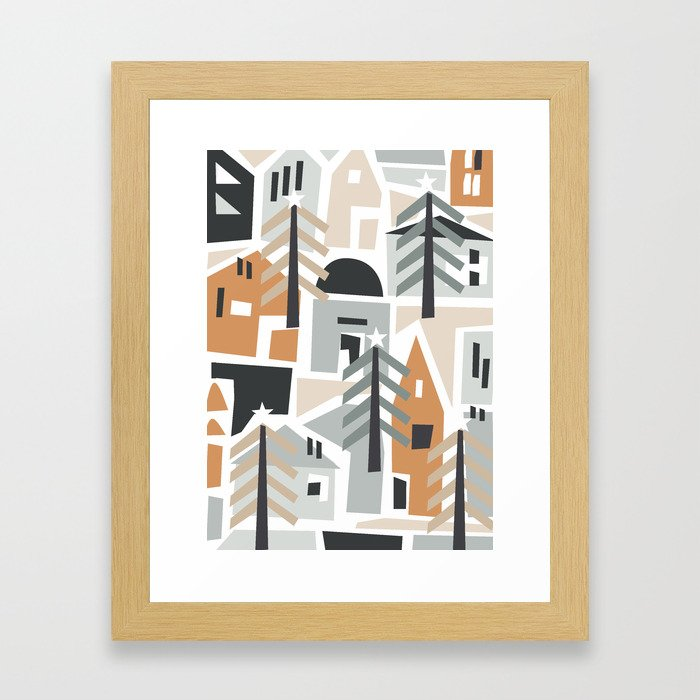 Giorno di festa shapes Framed Art Print