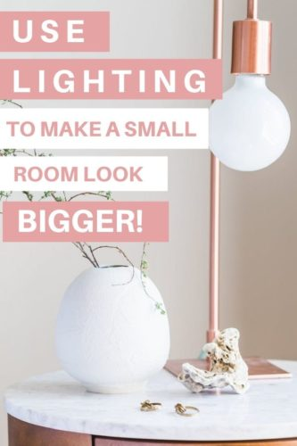 use lighting to make a small room look bigger