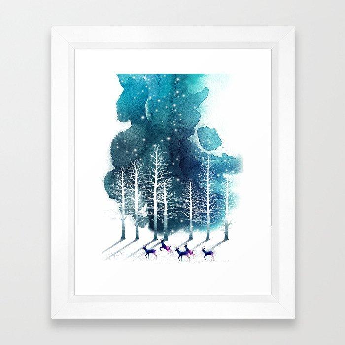 Winter Night 2 Framed Arte Print