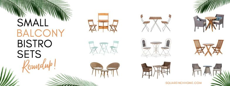 small balcony bistro sets for small spaces