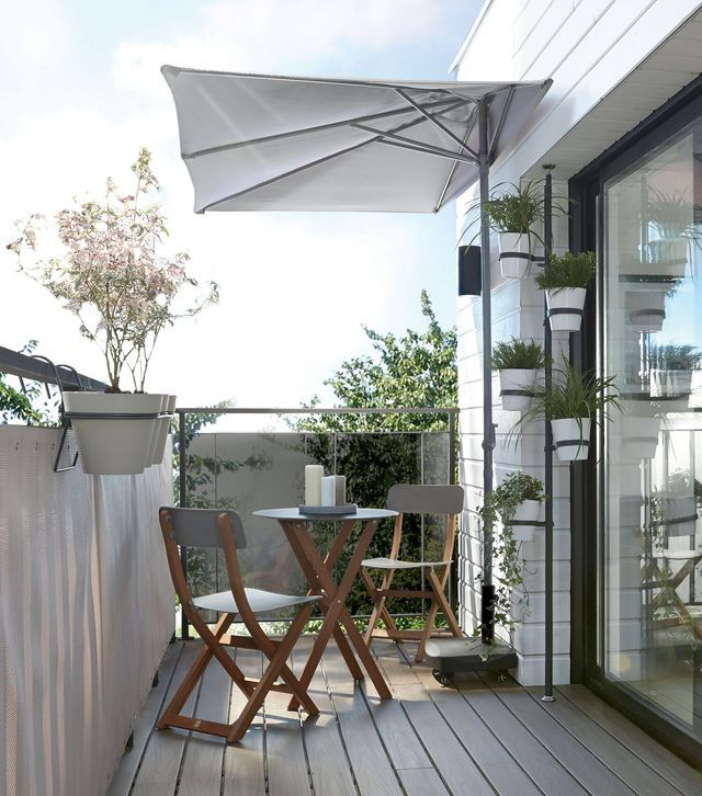 half canopy umbrella for small balconies