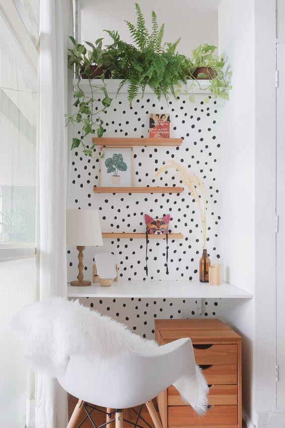 stylish cozy office nook