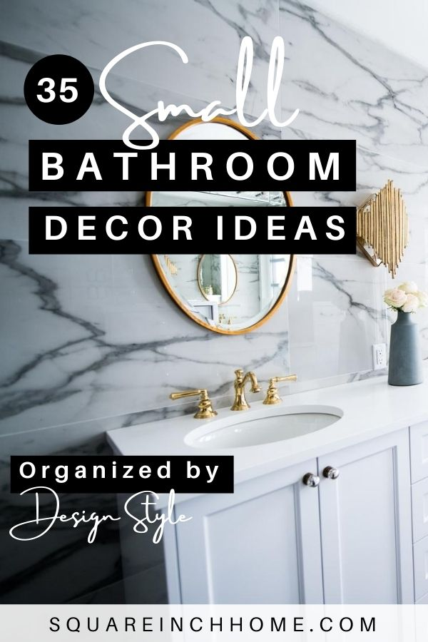 35 small bathroom decor ideas