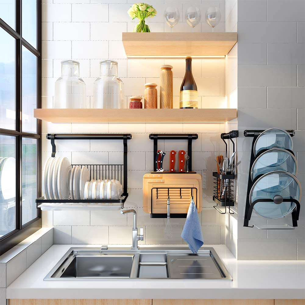 Wall-Mounted dish drainer rack
