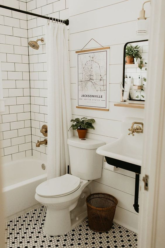 White and natural minimalist bathroom decor