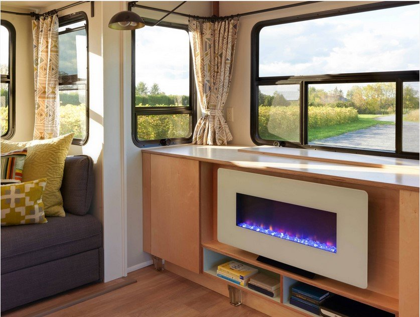 RV fireplace