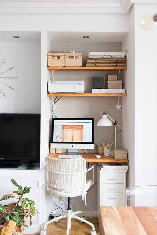 small corner home office