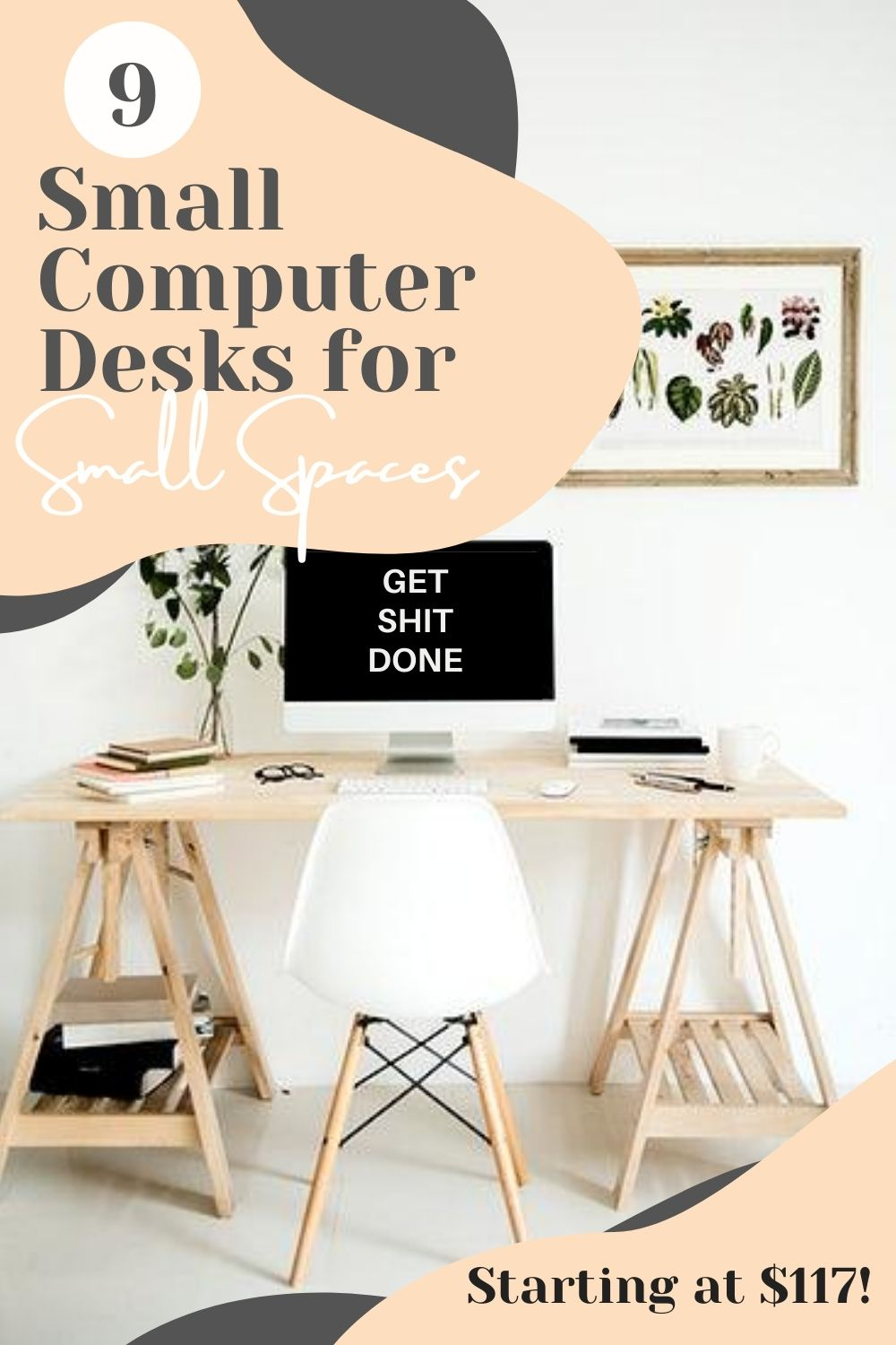 Small computer desks for small spaces pinterest