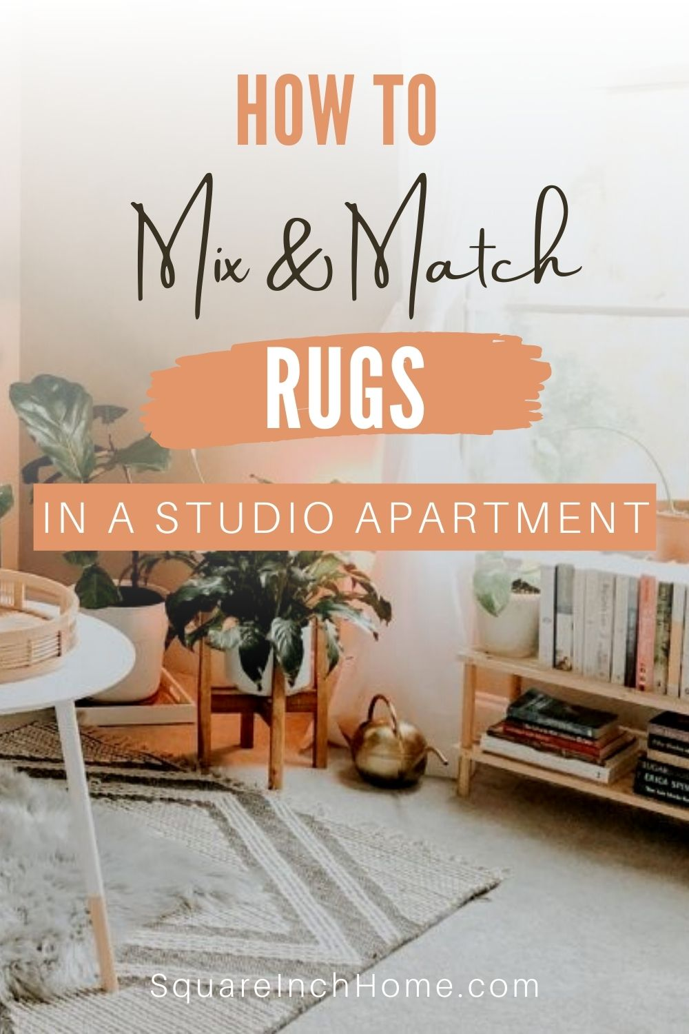 how to mix and match rugs in a small apartment