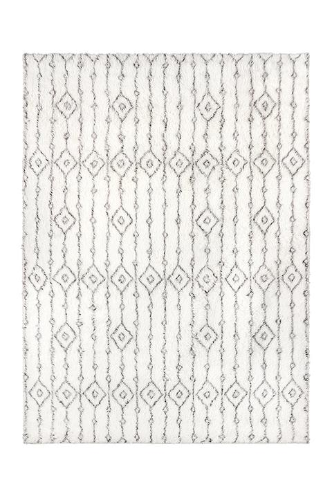 black and white moroccan style machine washable rug