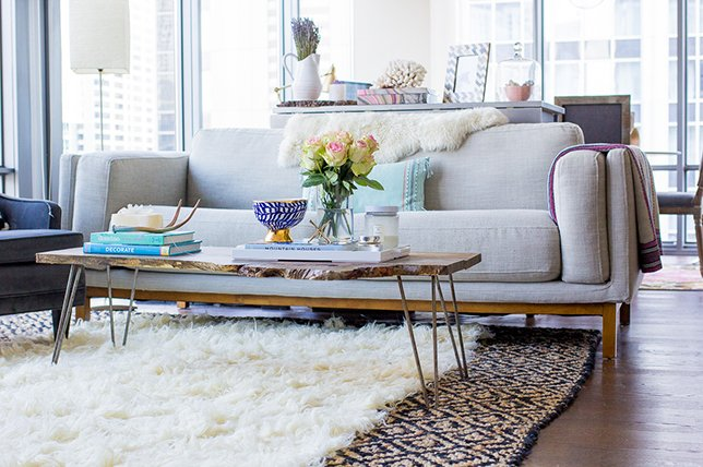 mix and match rugs by layering