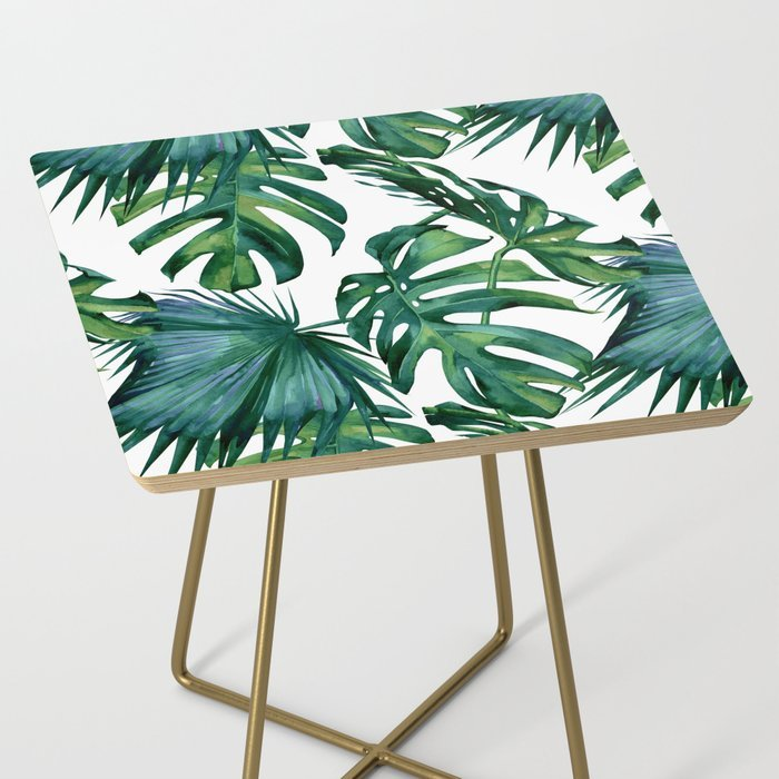 small palm leaves bedside table