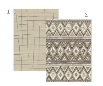 mixing neutral tone rugs