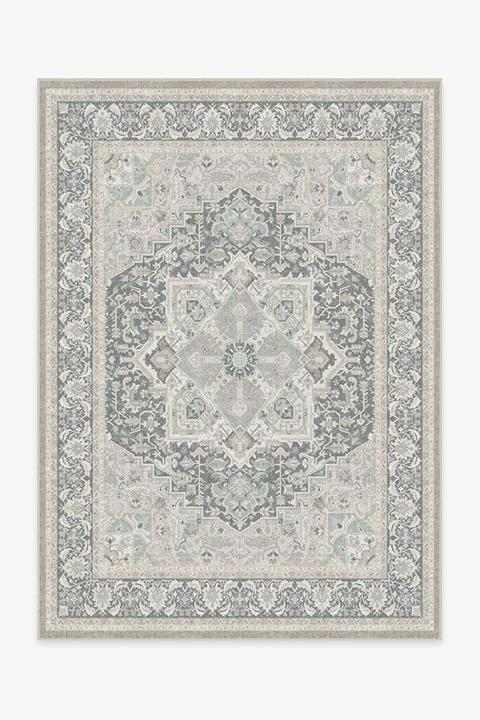neutral persian style machine washable  rug