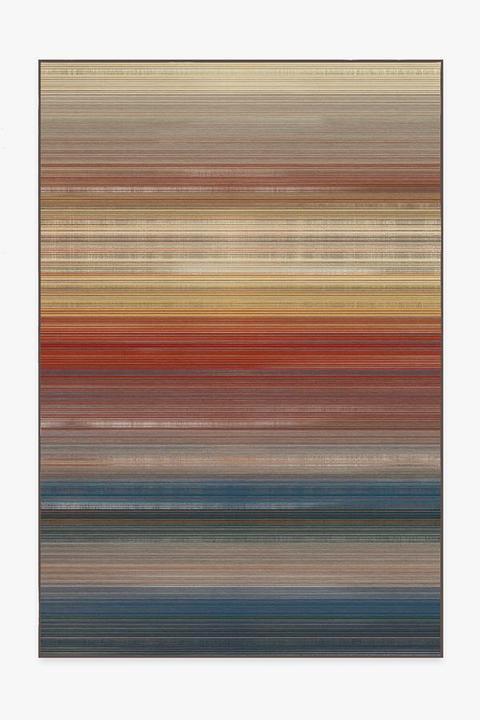 striped multicolored machine washable rug