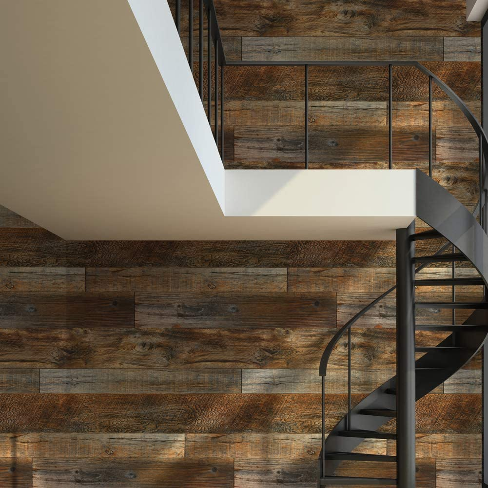 dark wood plank removable wallpaper
