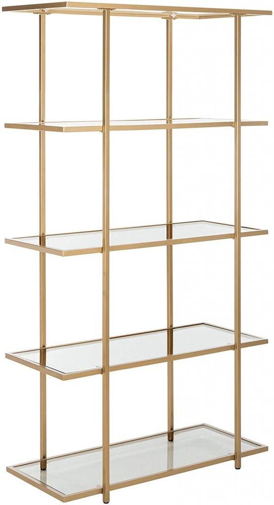 gold shelf for handbag storage