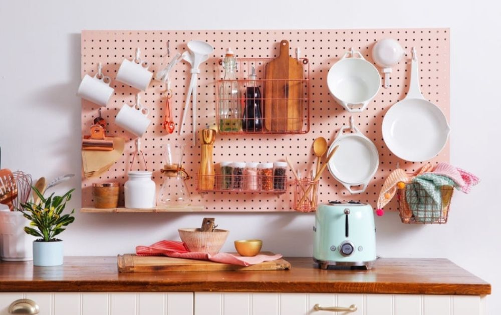 kitchen pegboard ideas for small kitchens